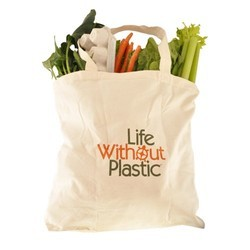 Onego Printed Cotton Vegetables Shopping Bag