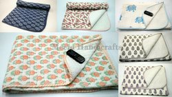 Meera Handicrafts Block Printed Baby Quilt Baby Dohar Baby Blanket