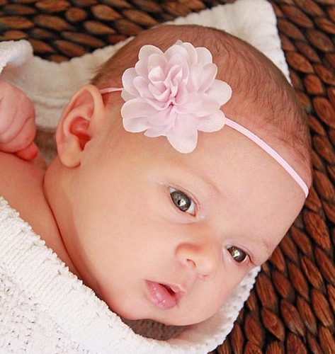 Small Flower Headband Baby Pink Hair Bands at Rs 99  piece  20542b49f53