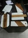 Marble With Wooden Chopping Board