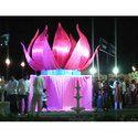 Pink Wedding Lotus Varmala Theme
