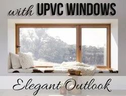 UPVC Casement Window, For Home, Thickness Of Glass: 6mm