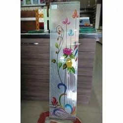 Printed Glass, For Door, Partition, Thickness: 10-12 Mm