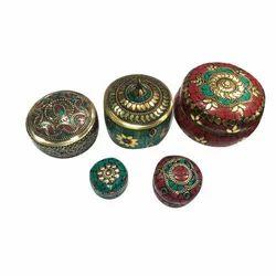 Red & Green RR Handmade Jewellery Box
