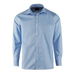 Blue Cotton Formal Shirt