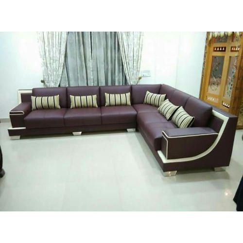 Living Room L Shaped Sofa At Rs 62000 Unit फर न चर