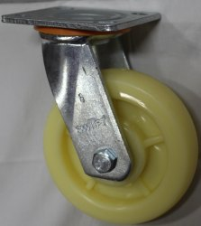 Plate Mounted Nylon Caster Wheel
