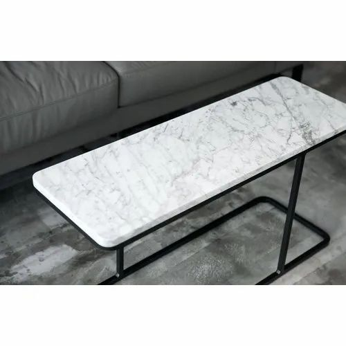 White Marble Corner Table Top Rectangular 15 Mm Rs 460 Piece Id 21674309288