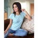 Ladies Lycra Printed T Shirt