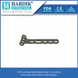 Locking Distal Radius Plate 2.7mm Extra Articaular (Head 4 H