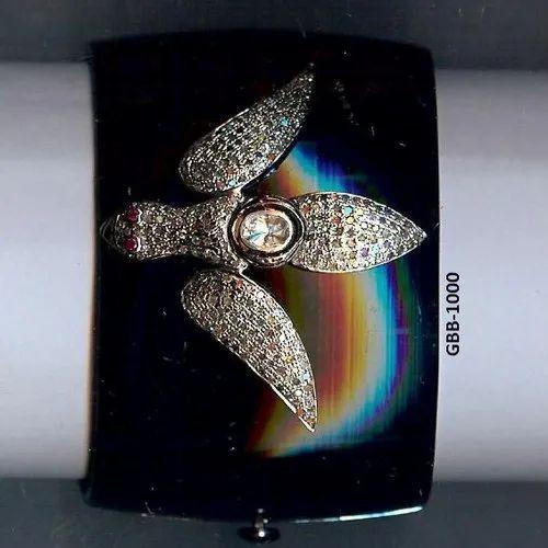 Real Pave Diamond Bakelite