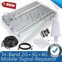 Premium Tri Band 2G, 3G, 4G Mobile Signal Booster Kit (Coverage 10000 sq. feet)