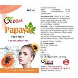 Ocean Ayurveda Papaya Face Wash, for Use Twice daily