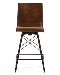 Industrial Leather Bar and Counter Chair, Cafe Furniture