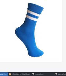 Light Blue School Socks