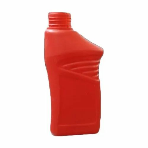 Red Lubricant Oil Plastic Bottle, Capacity: 1 L