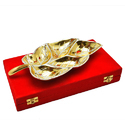 Gold & Silver Plated Leaf Platter