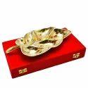 Gold & Silver Plated Leaf Platter