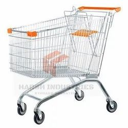 90 L SS Shopping Trolley