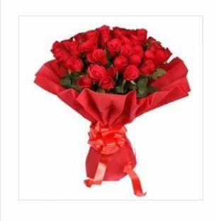 red rose guldasta