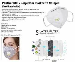 Panther KN95 Respirator Mask With Nosepin