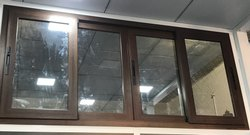 Wooden Coated Aluminium Sliding Domal Window High Quality Section 1.5mm