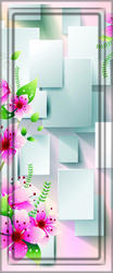Designer Digital Flower Printed Door