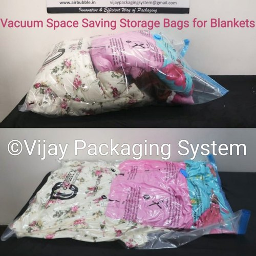 Vacuum Space Saving Storage Bags Large Size for Blankets, Size: 80x100cm