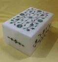 White Marble Jewellery Storage Box
