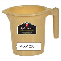 Plain Off White Plastic Mug, For Home