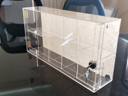 Acrylic Box With Partition & Lock