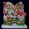 Beautiful Marble Shiva Parivar Statue