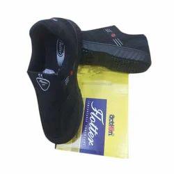 Flotter Action Mens Black Canvas Shoes