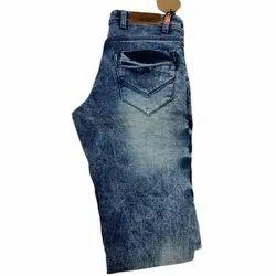 Comfort Fit Casual Wear Men Faded Blue Denim Jeans, Waist Size: 28 - 40