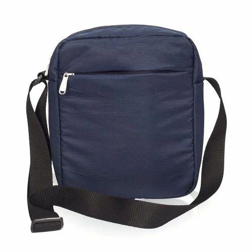 689f2cb30 Male Blue And Black Men Plain Side Bag