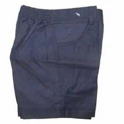 Cotton Blue Kids Plain School Shorts