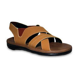 Leather Men Brown Sandal, Size: 6 To 10