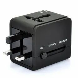 Universal Travel 2 USB International Power Adapter Rubber Finish