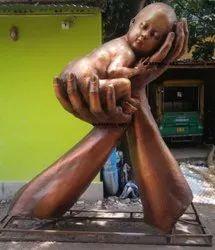 Fiberglass Bati Bachao Beti Padhao Statue