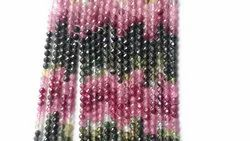 Tourmaline Faceted Round Beads
