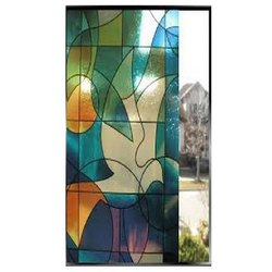 Printed Multicolor Glass, Size: 8 x 4 feet, for Partition