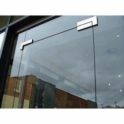 Transparent Toughened Glass door, Thickness: 5-20mm, Shape: Rectangular