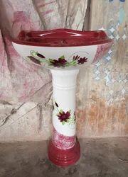 Ceramic Pedestal Designer Set, For Bathroom