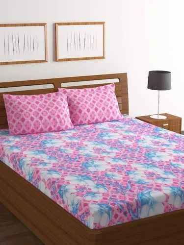 322b13451 Bombay Dyeing Cotton Double Floral Print Bed Sheets