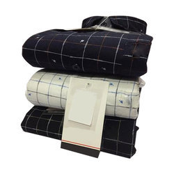 Mens Cotton Check Shirt, Packaging: Packet