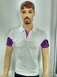 Polyester Half Sleeves Mens Sports T-Shirt