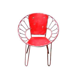 Lavanya Art And Crafts Modern Wrought Iron Chair, for Outdoor, Packaging Type: Box