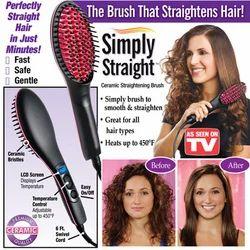 Black and Pink Plastic Straight Straightening Brush