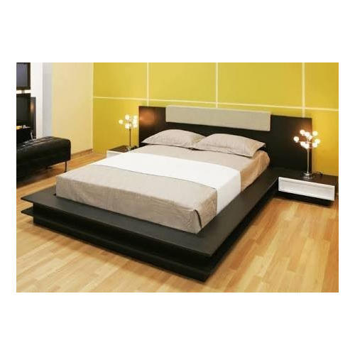 Cherry Wood Designer Double Bed, Length: 6 feet