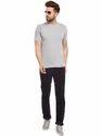 100% Cotton Men Short Sleeve Solid Grey T-Shirt